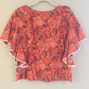 Dina Agam blouse from Anthropologie